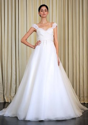 Vestido novia corte imperial