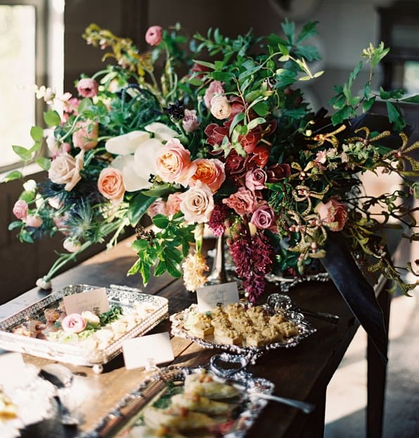 once-wed-launch-party-centerpiece-appetizers