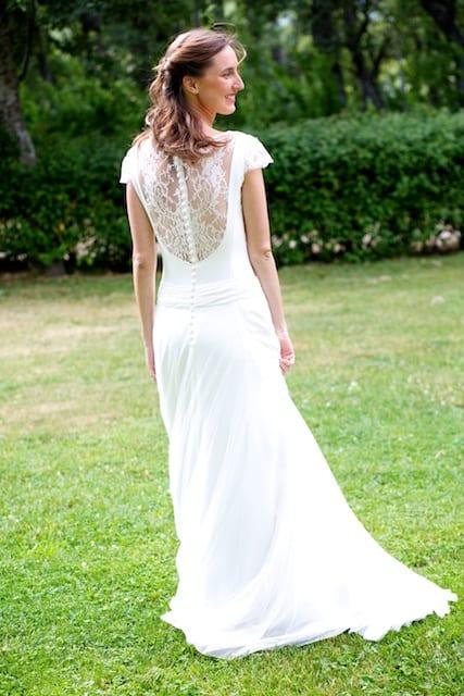 Vestido novia campo