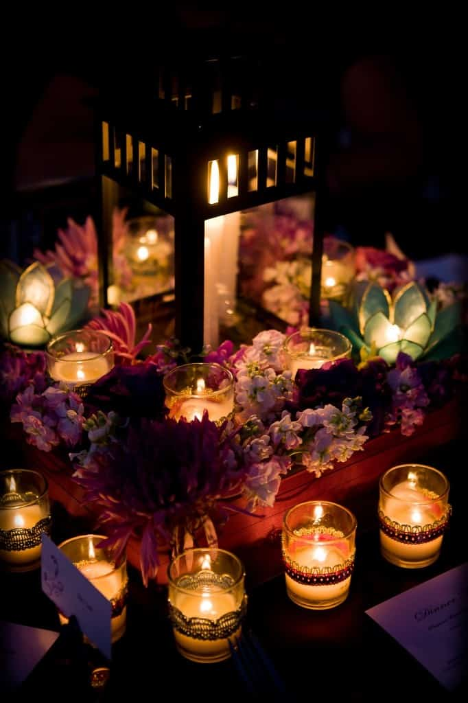 Blue lotus - love the flowers and candles