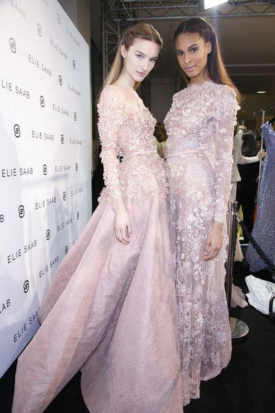 Elie Saab Spring 2014 - Backstage {love these for wedding dresses!}