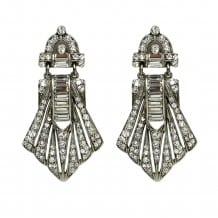 Large Deco Crystal Earrings