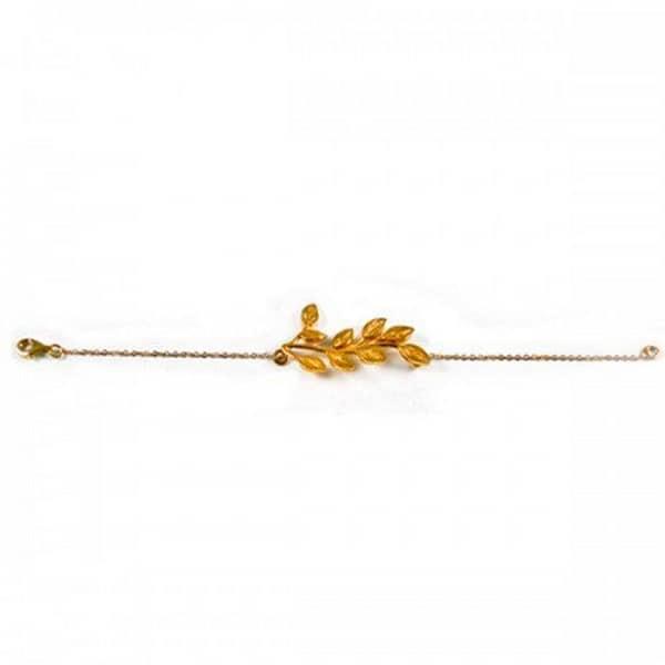 pulsera-hojas-de-fresno-oro-amarillo-de-nucca-online