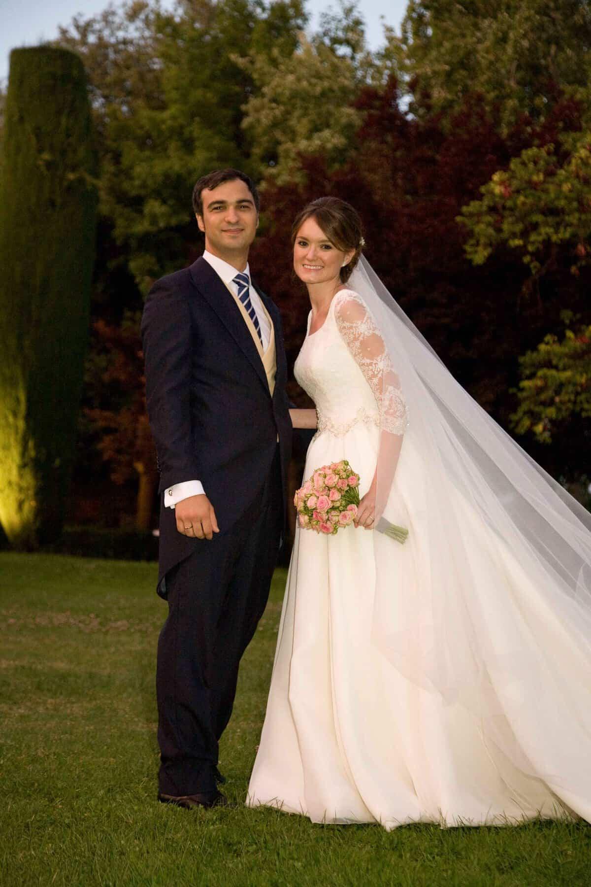 Vestidos de novia con tonos verdes