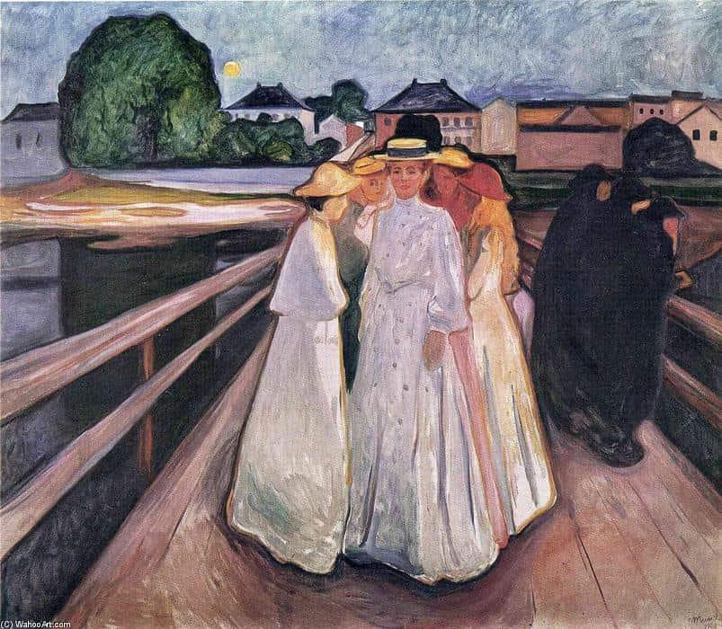 Edvard-Munch-The-Ladies-on-the-Bridge