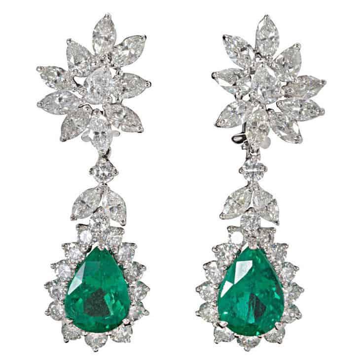 pendientes esmeraldas