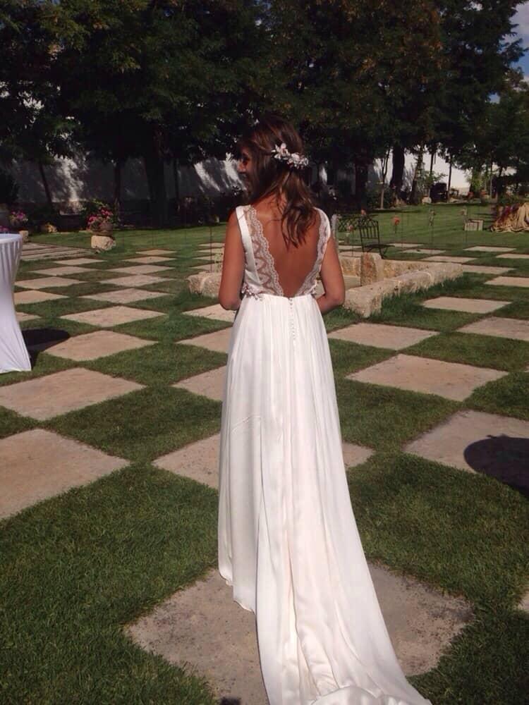 Vestidos novia con flores