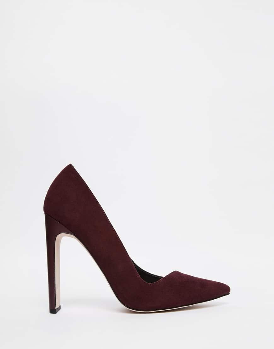 zapatos burgundy
