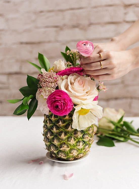 piña flores