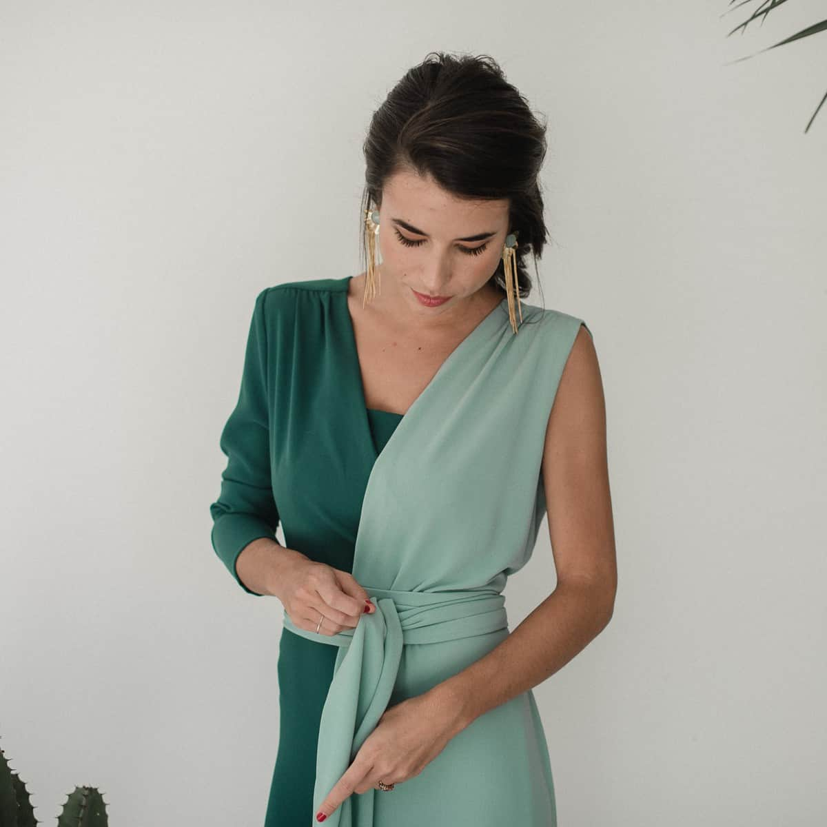 Vestidos de invitada verde agua